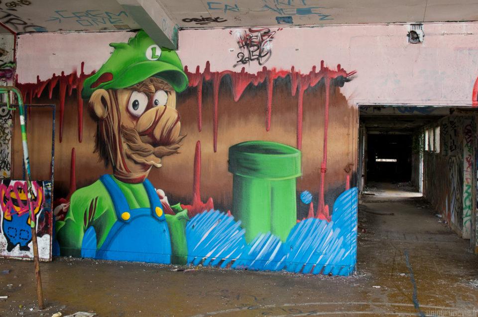Street art en bord de mer