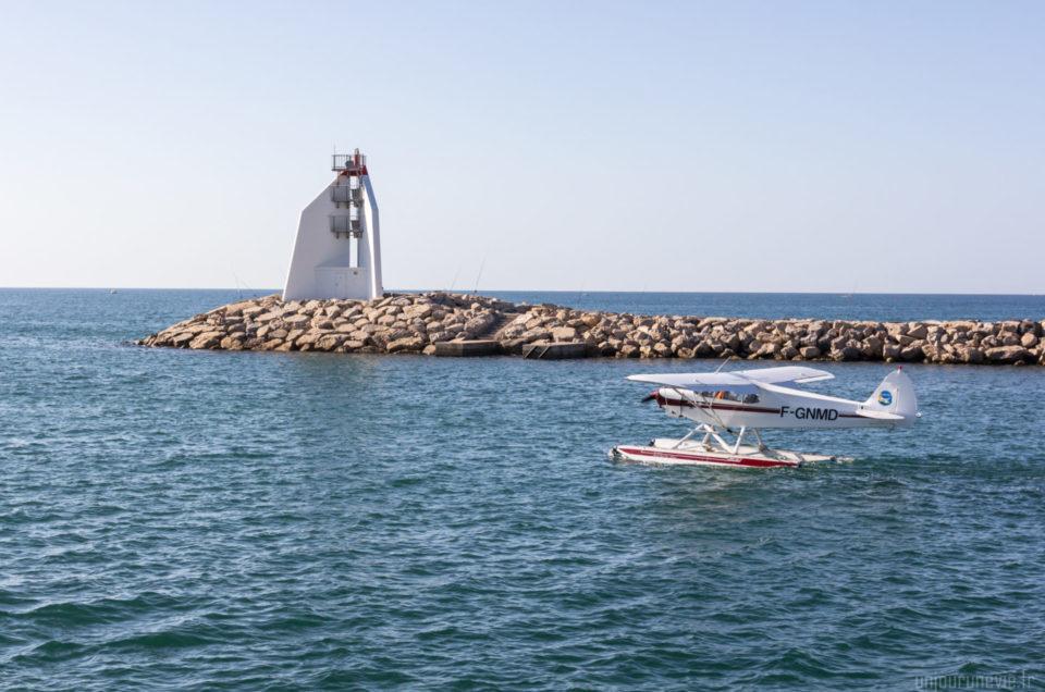Trois hydravions au port de la Grande-Motte